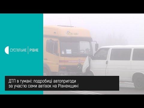 Суспільне Рівне: ДТП в тумані: подробиці автопригоди за участю семи автівок на Рівненщині