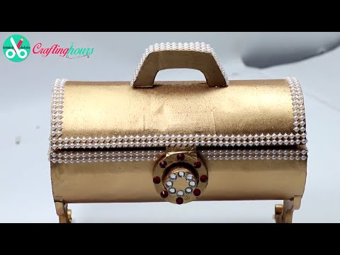 How to Make Antique Royal Style Jewellery Box /Gift Box with Paper & Cardboard