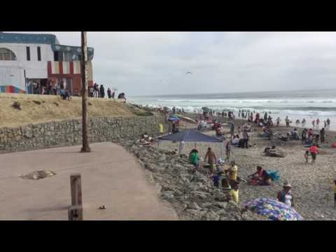 The Border Fence at the beach in Tijuana/San Diego
