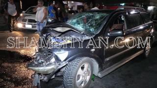 Երևանում բախվել են Opel ն ու «Սանիթեք» ընկերության աղբատարը, վերջինը կողաշրջվել է