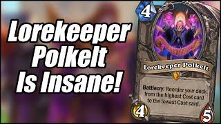 Lorekeeper Polkelt Is Insane! | Card Review (Part 5) | Scholomance Academy | Hearthstone