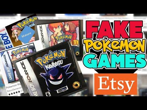 Playing FAKE Pokemon Games From ETSY