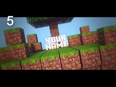 TOP 10 Minecraft Intro Template #5 C4D+AE,SV + Free Download