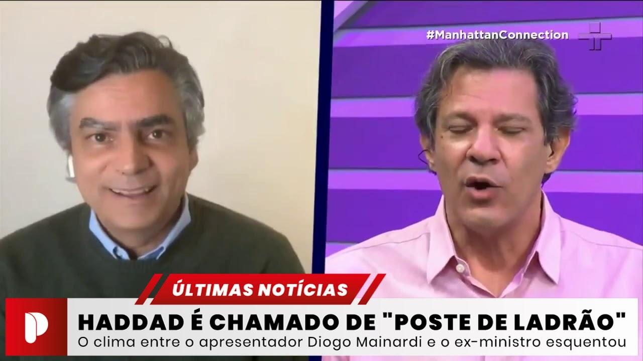 """Diogo Mainardi chama Fernando Haddad de """"poste de ladrão"""" e """"imbecil"""" durante entrevista"""