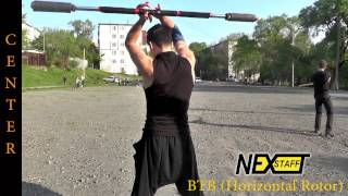 Фаер-шоу. Уроки Шест (Spin staff) Стиль Center - BTB (Horizontal - Rotor)