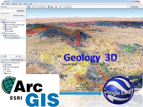 Google Earth how to present a geologic map in 3D