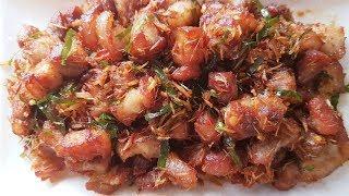Cách làm Thịt ba chỉ rang sả ớt lá chanh || ngon cơm cả nhà mê mẩn.