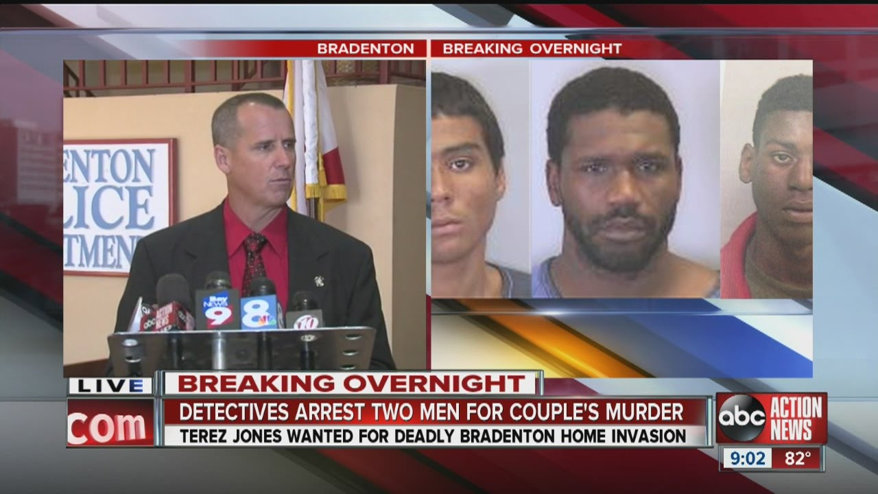 Bradenton Police announce the arrest of two murder suspects