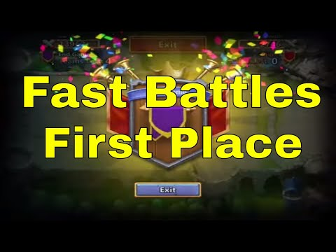Fast Battles And First Place In Castle Clash Fortress Feud