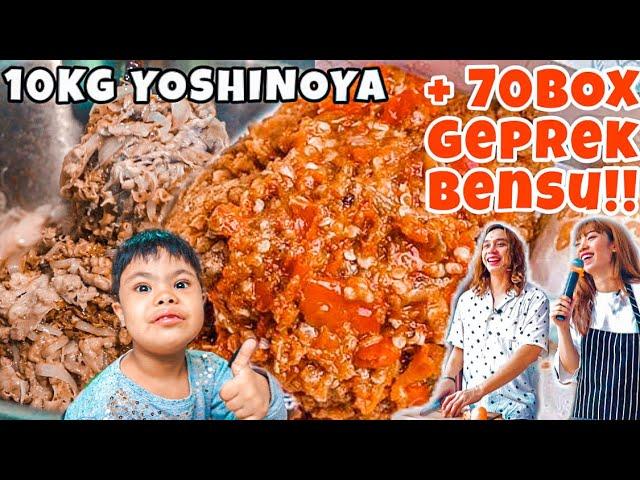PORSI EDAN! KITA MASAK 10 KG DAGING ALA YOSHINOYA + 70BOX GEPREK BENSU DIDALAM MOBIL. AUTO DESEK2AN