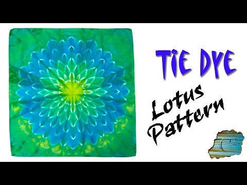 a276b456 How to Tie Dye: Lotus Pattern - YouTube