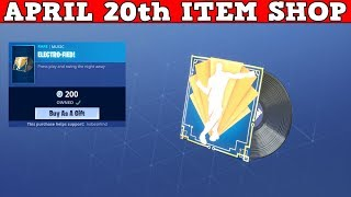 Fortnite Item Shop (April 20th) | *NEW* ELECTRO-FIED MUSIC! EASTER SKINS!