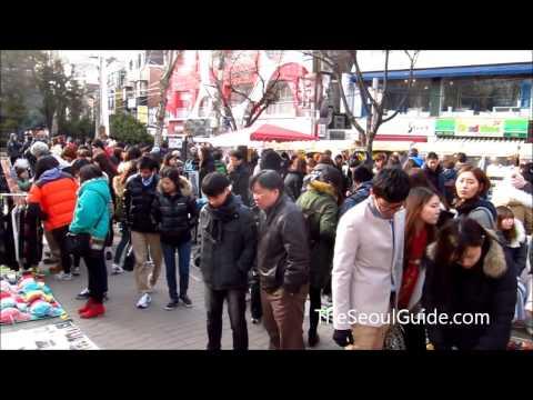 Hongdae Free Market in Seoul, South Korea