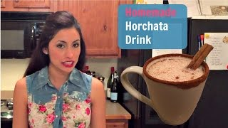 How to Make Horchata Drink - Mexican Recipe - Homemade Horchata