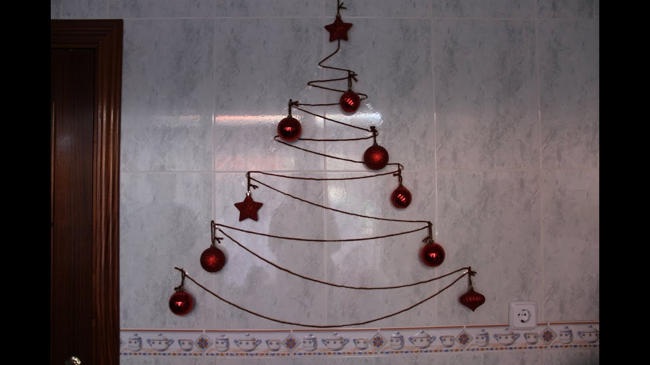 C mo hacer un rbol de navidad con lana - Como hacer cosas de navidad ...