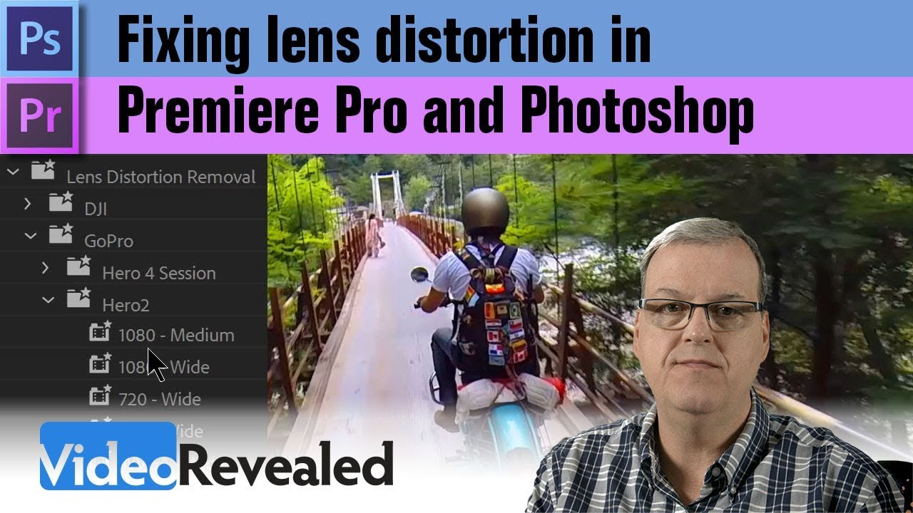 Fixing lens distortion in Premiere Pro and Photoshop