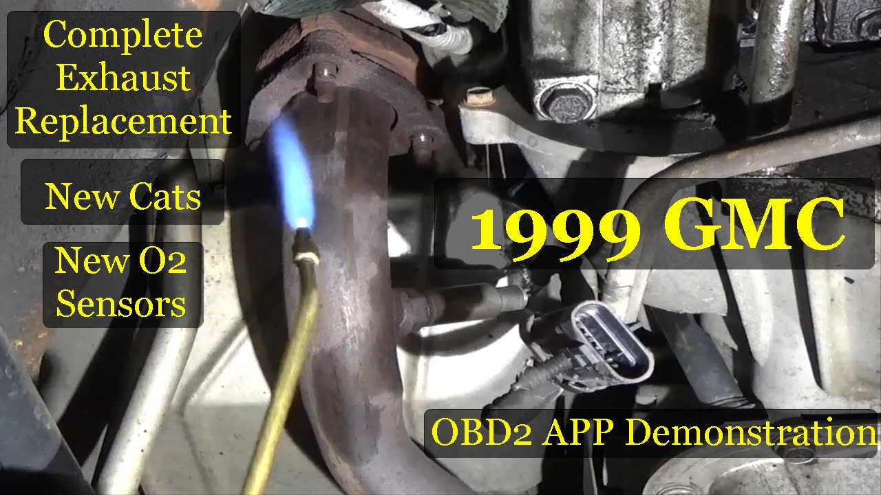 medium resolution of gmc suburban complete exhaust system replacement obd app demonstration at end youtube