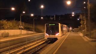 Oslo-Akershus T-bane - Linje 1,4 og X: Ryen T-banestasjon Kveldsspesial 10-2016 [HD]