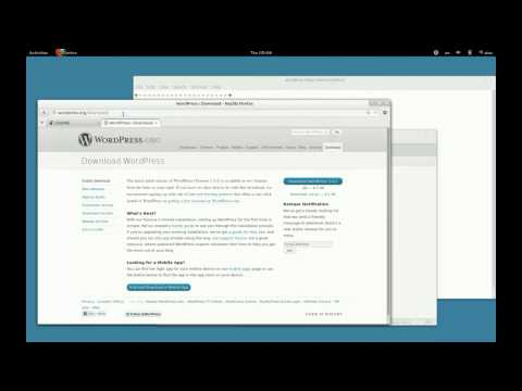 Installing Wordpress in Fedora 18 and setting Gnome Web Official Theme