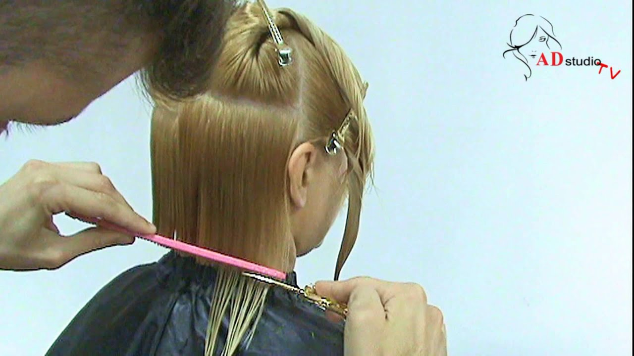 Женская стрижка Каре на удлинение от Арсена Декусара ...