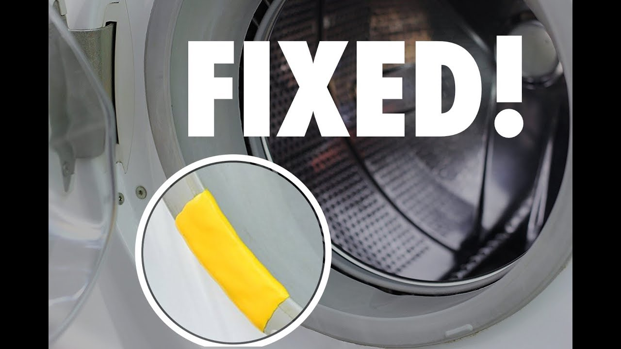 Sugru saves the day   Washer-Dryer Gasket Fix   How to-DIY @PragueCR