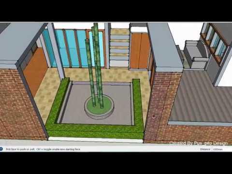 Aplikasi Desain Rumah Minimalis Gratis  desain rumah modern minimalis tanah kavling 6x12 taman luas di dalam rumah 05