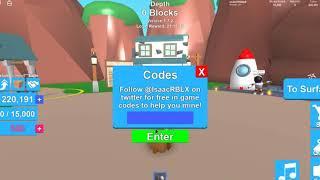 all rebirth tokens codes mining simulator roblox