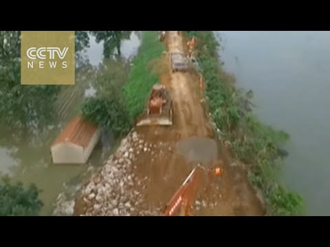 Dike breached in Hubei Province, 8,000 evacuated