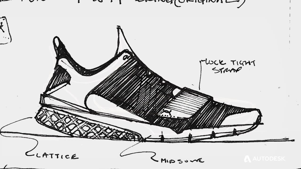 Footwear with Generative Design
