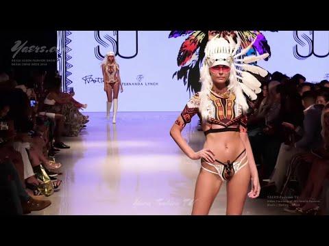 Miami fashion swimwear show, Indian style bikini, fashion new style!