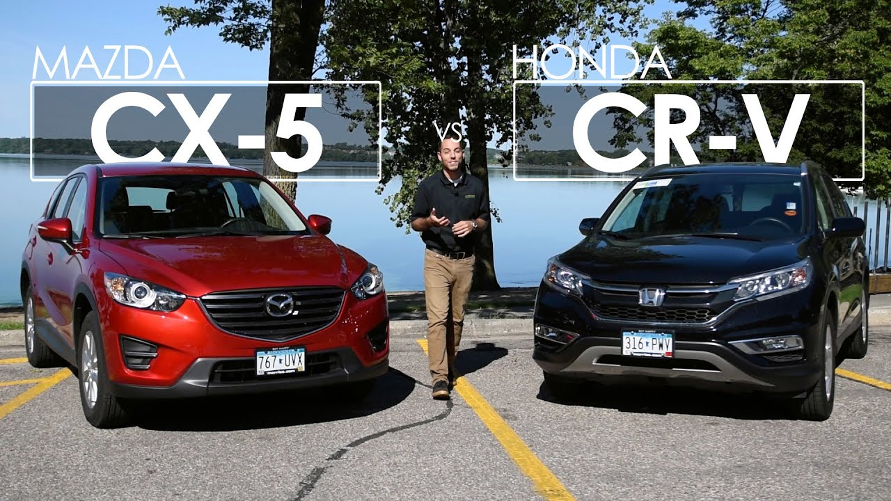 Honda Hrv Vs Crv >> Mazda CX-5 vs. Honda CR-V | Model Comparison | Driving Review - YouTube