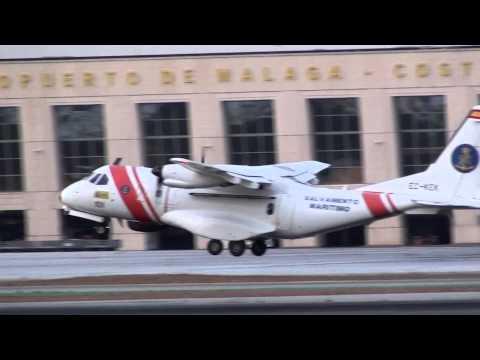 Salvamento Maritimo Airtech CN 235 300 MPA Persuader EC KEK Take Off Malaga AGP