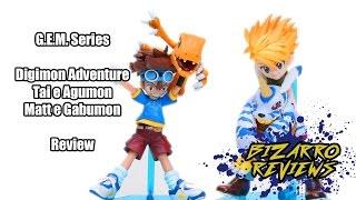Review G.E.M. Series - Digimon Adventure: Tai e Agumon. Matt e Gabumon PT-BR