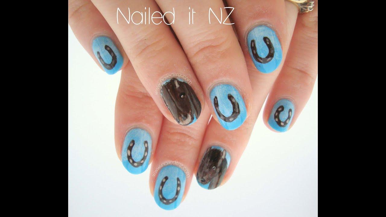 horse shoe nail art tutorial