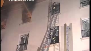 incendie hotel paris opera BSPP en image (RARE)  - brigade de sapeurs pompiers de paris - Image BIRP