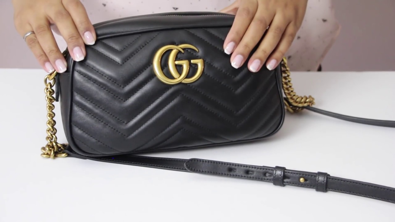 f8695ab3b483 Gucci Marmont Matelassé Small Bag | Review | What's in my bag - YouTube