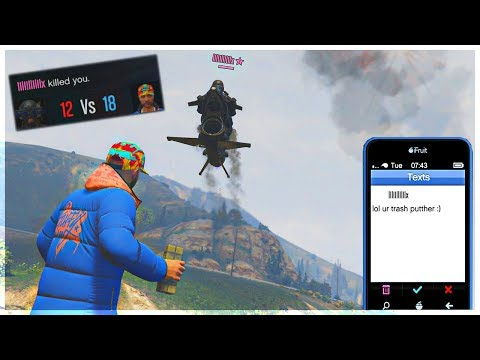 Level 9 HUMILIATES a Salty Barcode Tryhard! (GTA 5 Online)
