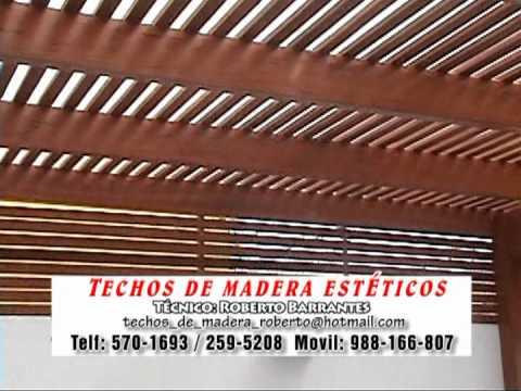 Techo de estructura madera sobre concreto cieneguilla - Techo de madera ...