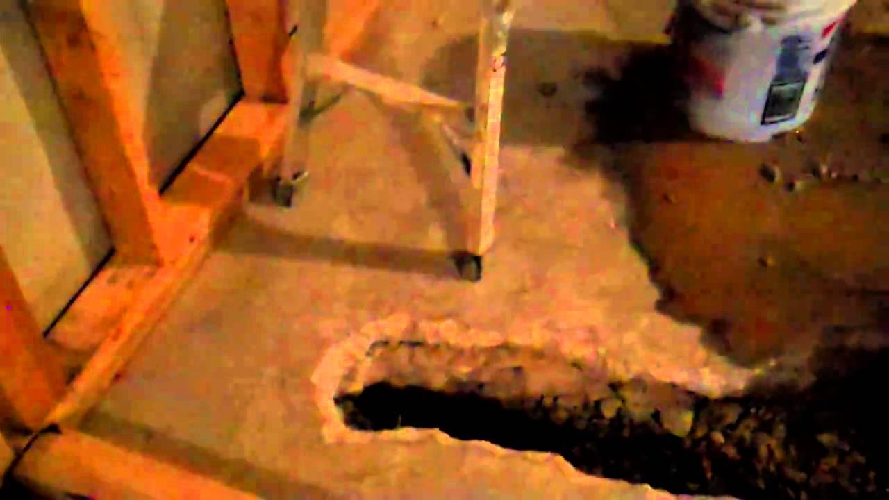 Plumbing in a basement bathroommp4  YouTube
