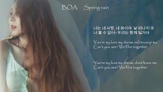 (English lyrics) BOA 보아  - Spring Rain ACOUSTICS  eng / hangul /romanised