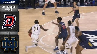 Duquesne vs. Notre Dame Condensed Game | 2018-19 ACC Basketball