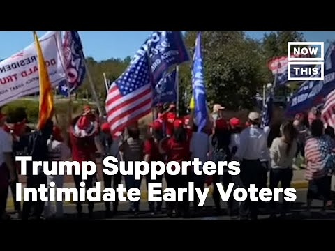 Trump Supporters Disrupt Early Voting In Virginia | NowThis