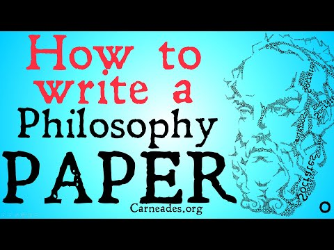How To Write A Philosophy Paper (Basics)