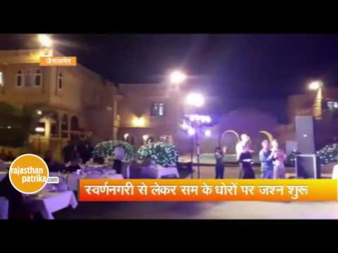 Tourist New year celebration in jaisalmer