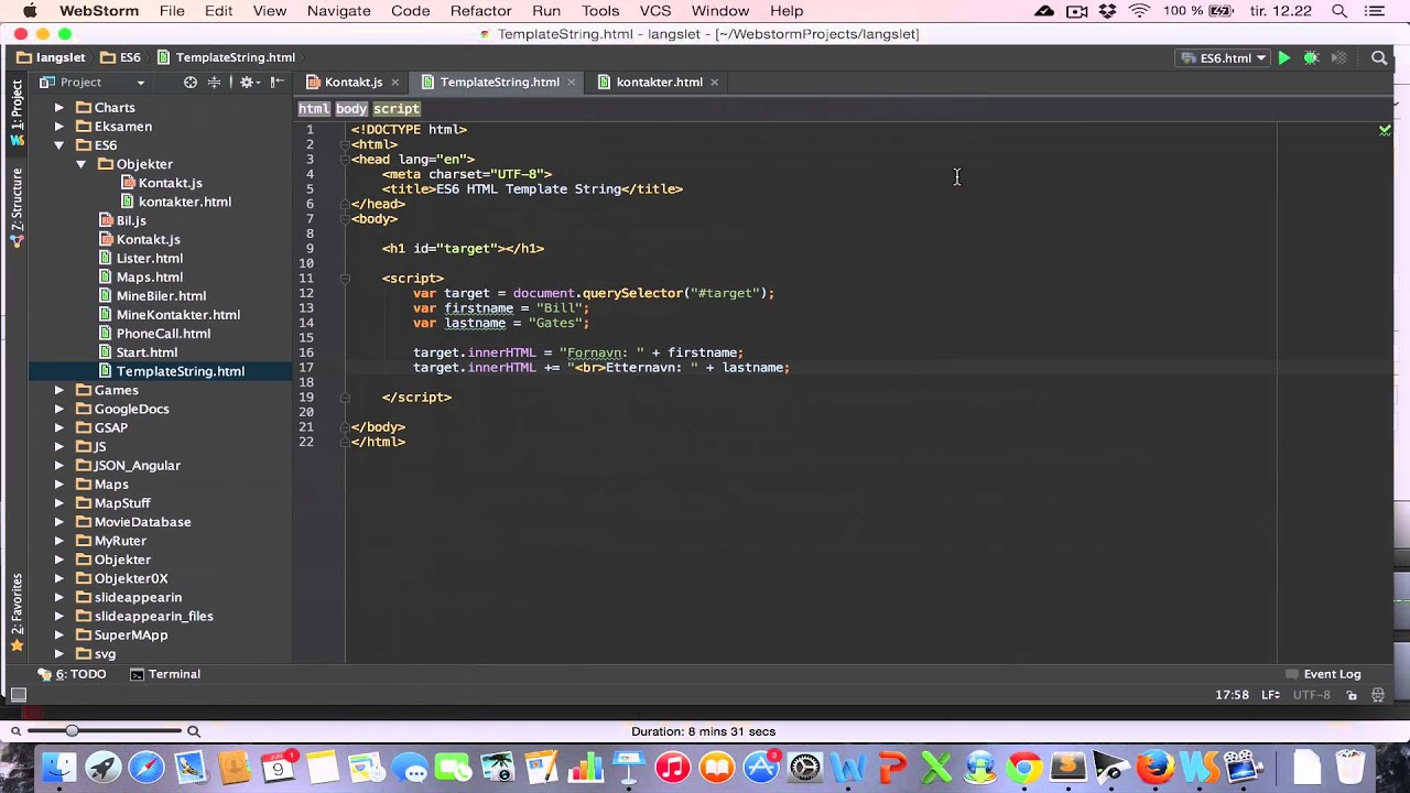 HTML Template String - YouTube