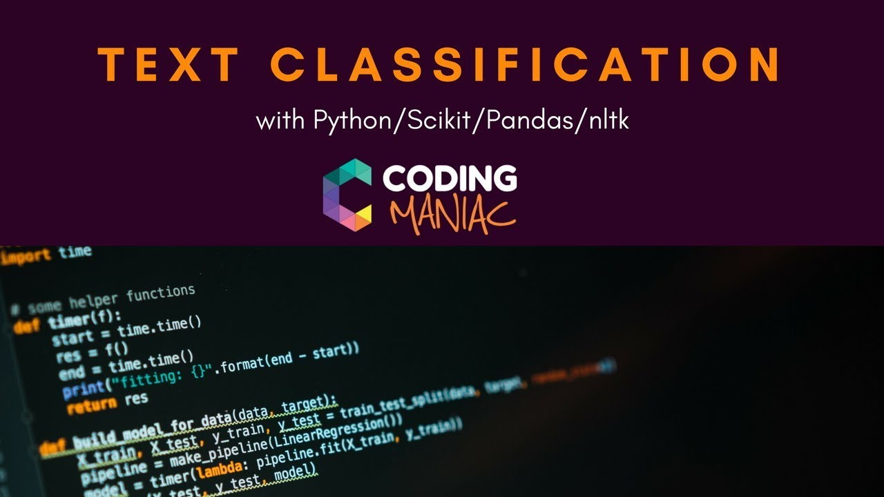 Machine Learning - Text Classification with Python, nltk, Scikit & Pandas