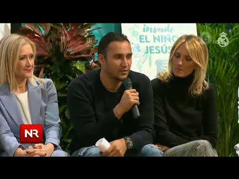 Keylor Navas comparte con niños en hospital de Madrid en su tiempo libre