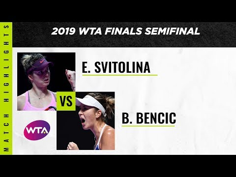 Belinda Bencic v. Elina Svitolina   2019 WTA Finals