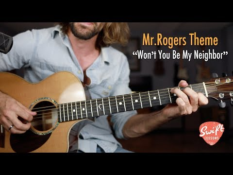 """""""Won't You Be My Neighbor"""" - Mr. Rogers Theme Song - Beginner friendly Guitar Lesson"""