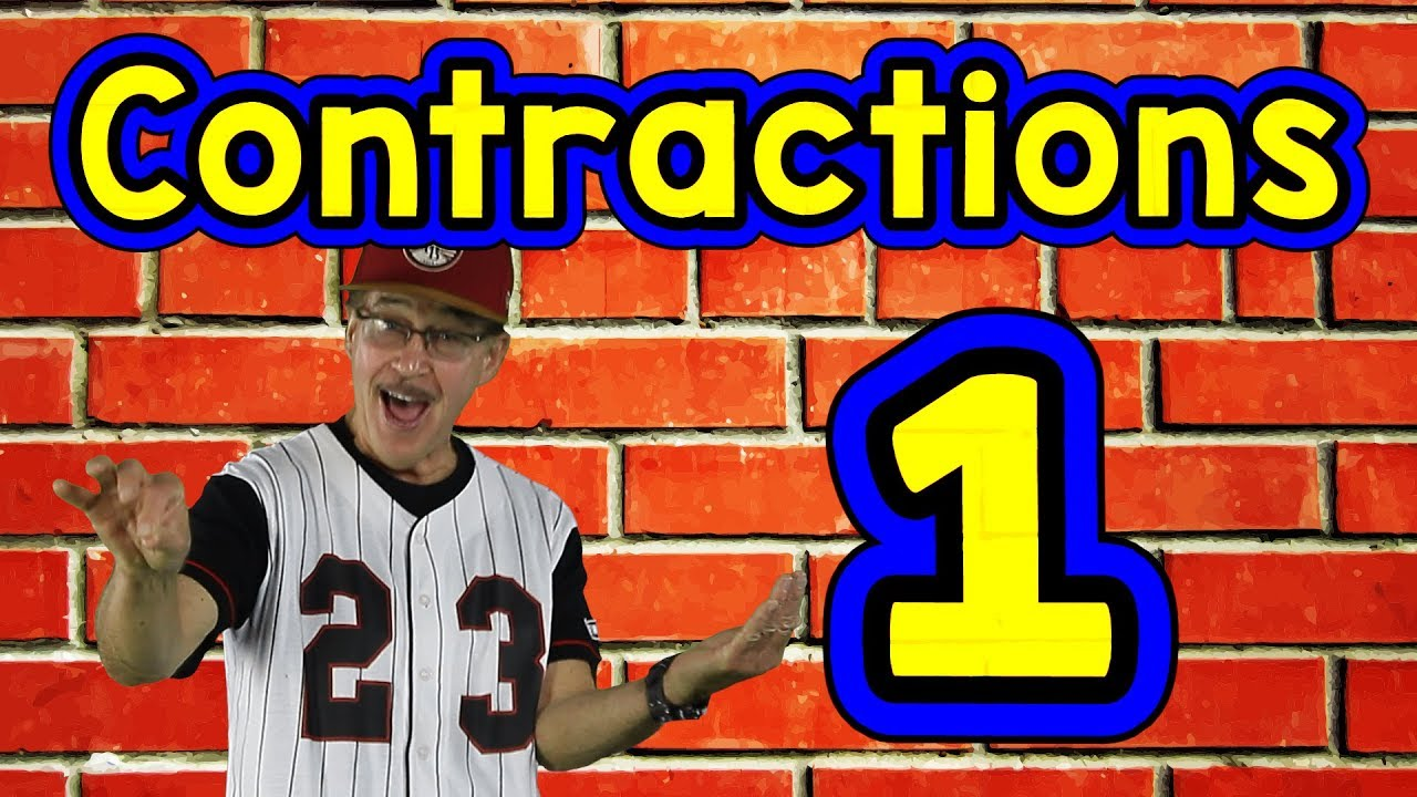 medium resolution of Contractions 1   English Song for Kids   Reading \u0026 Writing Skills   Grammar    Jack Hartmann - YouTube